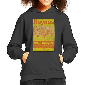 Haynes Workshop handmatige Volkswagen Camper 1972 Stripe Kid's Hooded Sweatshirt