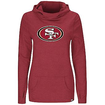 Majestic GREAT PLAY Jersey Hoody - San Francisco 49ers rot