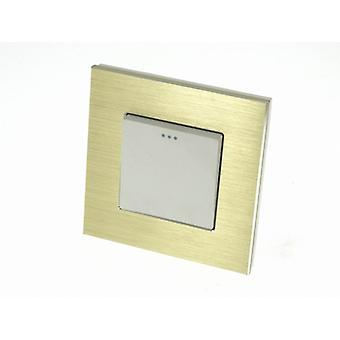 I LumoS Luxury Gold Glass Frame 1 Gang 2 Way Rocker Wall Light Switches