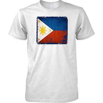 Phillipines Grunge Grunge effetto bandiera - Mens T-Shirt