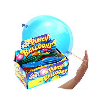 SINGLE Coloured Latex Punch Balloon Party Favour