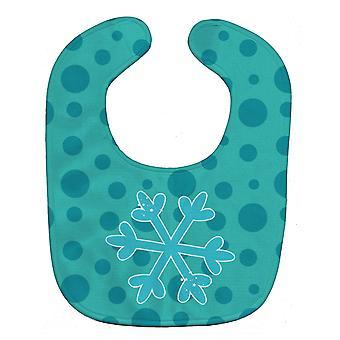 Carolines Treasures  BB8949BIB Christmas Snowflake Blue Baby Bib