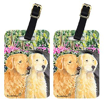 Carolines Treasures  SS8974BT Pair of 2 Golden Retriever Luggage Tags