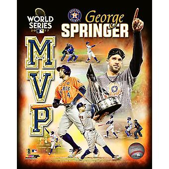 George Springer 2017 World Series MVP Portrait Plus Photo Print