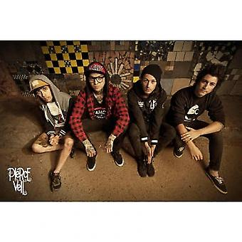 Pierce The Veil Sitting Group Sitting Poster Poster Print