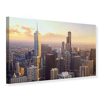 Lona impresión horizonte Chicago