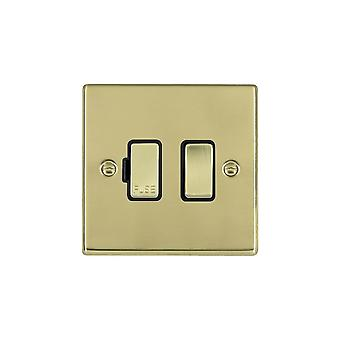 Hamilton Litestat Hartland Polished Brass 1g 13A DP Fused Spur PB/BL