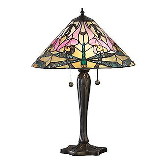 Ashton Medium Tiffany Style bordslampa - interiör 1900 69325