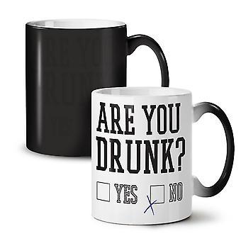 Are You Drunk Quiz NEW Black Colour Changing Tea Coffee Ceramic Mug 11 oz | Wellcoda