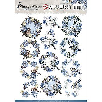 Find It Amy Design Vintage Winter Punchout Sheet-Wreaths SB10213