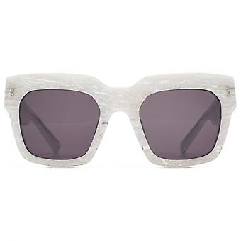 Hook LDN Genesis Chunky Square Premium Acetate Sunglasses In White Marble