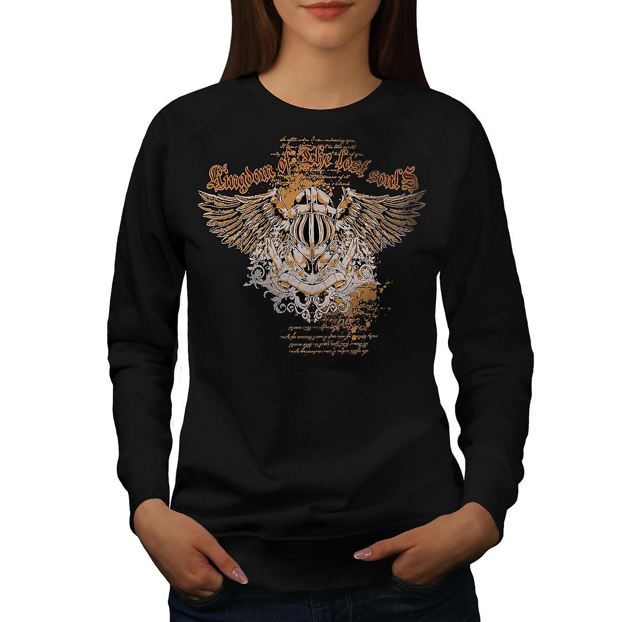 Kingdom Lost Soul Fashion Women BlackSweatshirt | Wellcoda