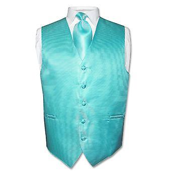 Men's Dress Vest & NeckTie Neck Tie Horizontal Stripe Set