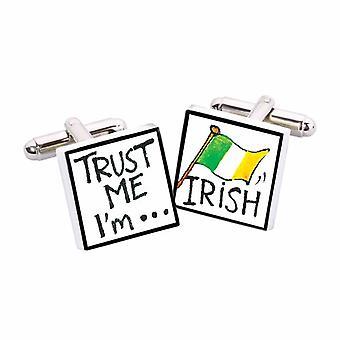 Confía en mí, yo soy irlandés gemelos por Sonia Spencer, en estuche de presentación. Irlanda, Eire