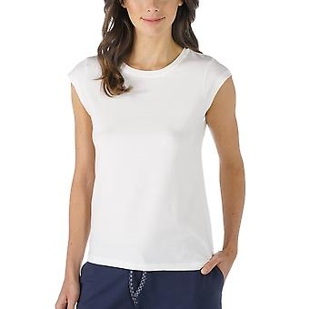 Mey 16811-405 Women's Night2Day Off-White Solid Colour Pajama Capped Sleeve Pyjama Top