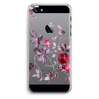 iPhone 5 / 5S / SE Transparent Case (Soft) - Pretty flowers