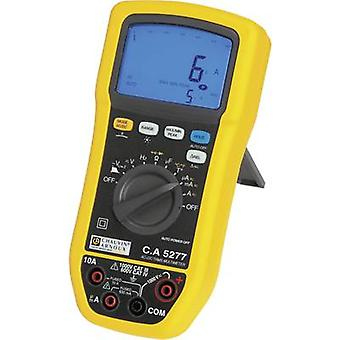 Handheld multimeter Digital Chauvin Arnoux C.A 5277 Calibrated to: Manufacturer's standards (no certificate) Splashproof