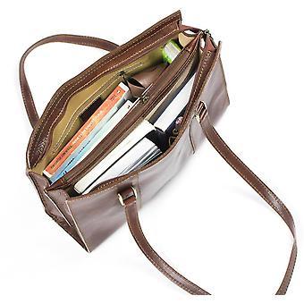 Luxuriöse italienische Leder Damen Umhängetasche Handtasche braun Arbeit Geschäftsfall