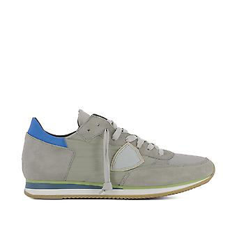 Philippe model men's TRLUW024 grey fabric of sneakers