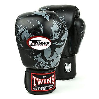 Twins Special Black Tribal Dragon Boxing Gloves