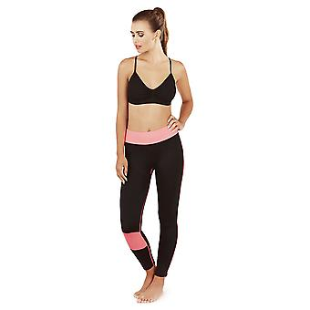 South Beach, Ladies Eclipse Fitness Sports Set with Top and Bottoms, Grey, UK 12