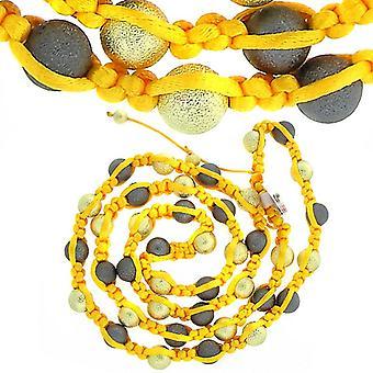 Premium PAVÉ BALL necklace - gold / grey