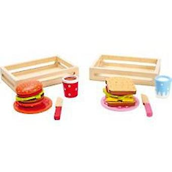 Legler Hamburger and sandwich, set of 2