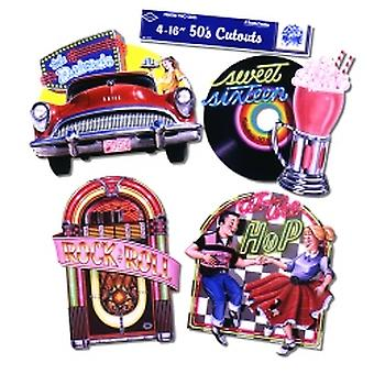 Fabulous 50's Cutouts Printed On Both Sides 40.64cm (4 In A Pack)