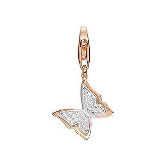 Esprit Anhänger Charms Silber Rosé Schmetterling Butterfly ESCH91576A000