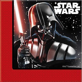 Serviettes servietter Star Wars siste barna partiet bursdag 33x33cm 20 enheter