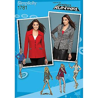 Misses' Jackets Project Runway Collection-6-8-10-12-14