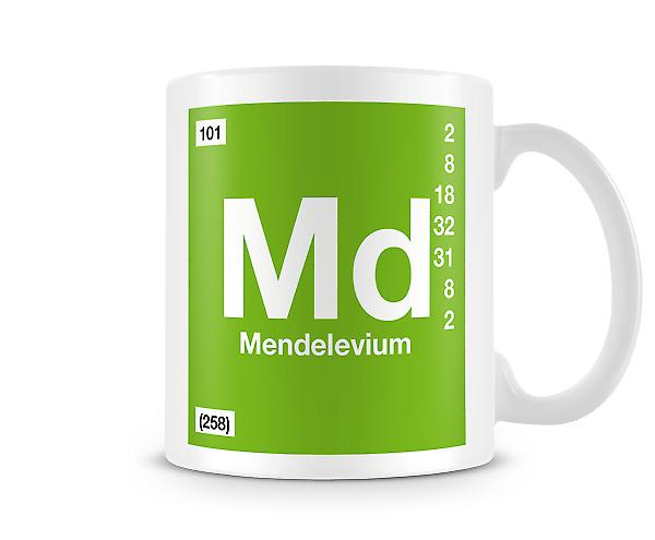 Element Symbol 101 Md - Mendelevium Printed Mug