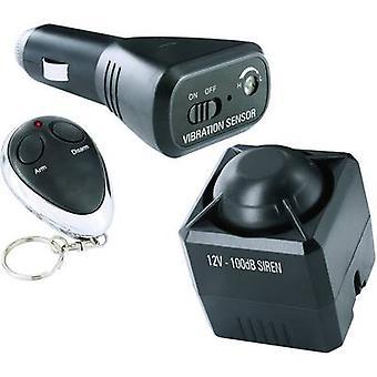 Smartwares Car alarm Incl. remote control, In-car surveillance, Vibration sensor 12 V