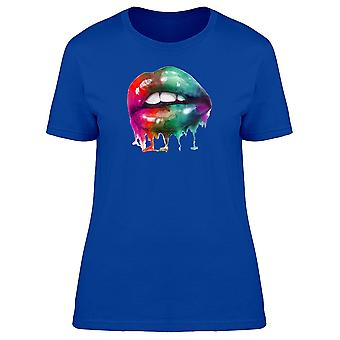Lips Dripping Paint Tee Women's -Image by Shutterstock