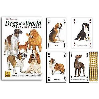 الكلاب في العالم مجموعة من أوراق اللعب 52 (+ النكاتون)