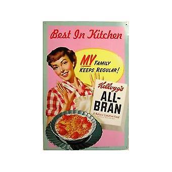 Kelloggs alle Bran bedste i køkkenet stål underskrive