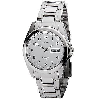 JOBO damer ur kvarts analog rustfrit stål dato armbåndsur