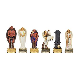 The Angels Vs Devils Hand painted themed chess pieces by Italfama
