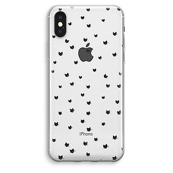 iPhone XS Max Transparent Case (Soft) - Little cats