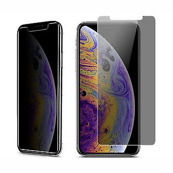 Apple iPhone XS Max Blickschutz Panzer Schutz Glas Anti-Spy Glasfolie 9H - 3 Stück
