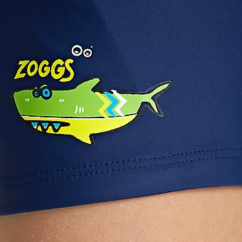 Zoggs Junior Boys Swimming Trunks Hip Racer in Navy - Chlorine Proof for 1-6 Years Kids