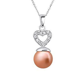 Hjerte - 925 Sterling sølv Jewelled halskæder - W22528X