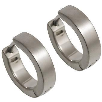 Orecchini a cerchio piccolo TI2 titanio - argento
