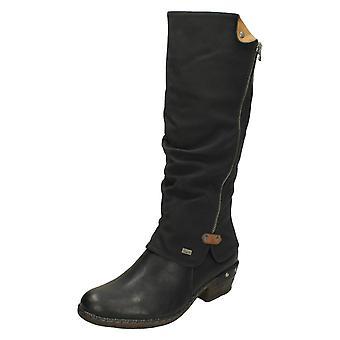 Damer Rieker knä höga Casual Boots 93655