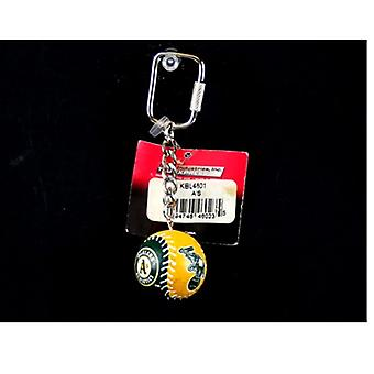 Oakland Athletics MLB Baseball Team Color Key Chain