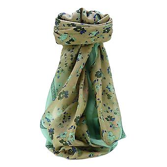 Mulberry Silk Contemporary Square Scarf Floral F205 by Pashmina & Silk