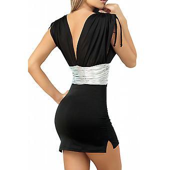 Waooh - Fashion - Mini zwarte jurk clubwear