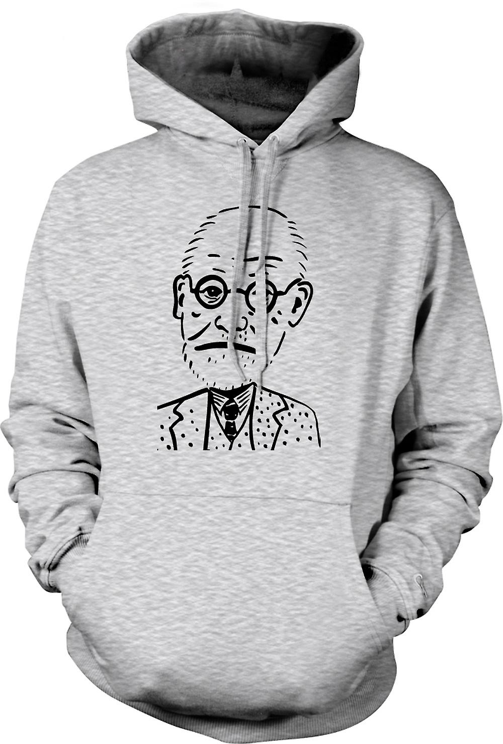 Mens Hoodie - Sigmund Freud - Psychology - Caricature