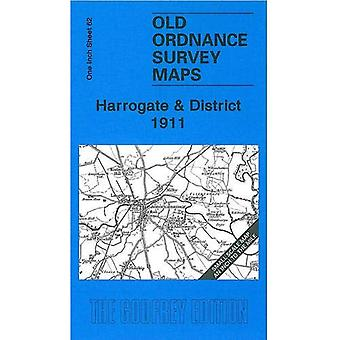 Harrogate and District 1911: One Inch Sheet 62 (Old Ordnance Survey Maps - Inch to the Mile) [Folded Map]