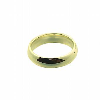 18 Karat Gold 6mm einfache Gericht Wedding Ring Größe Z